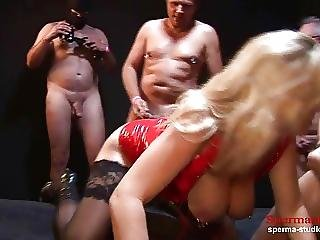 Multiple Cumshots Orgy Marina Part 2