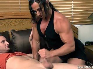 Muscle Mom Jerk Off Video 1