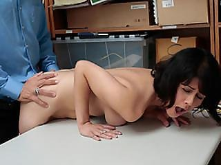 Brunette Penelope Reed Punished For Shoplifting