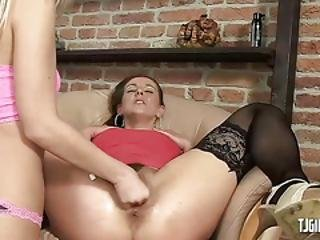 Pussy Gaping And Fisting With Lesbians
