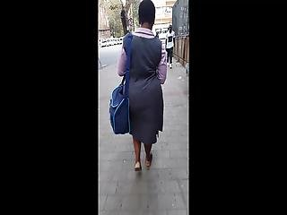 South African Chunky Wide Ass Mature Milf From Work