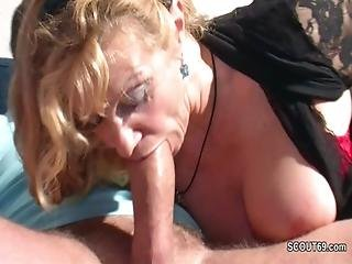 Monster Cock Step-son Seduce Hot German Mother To Fuck