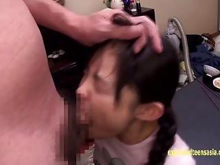 Petite Jav Schoolgirl Gets Deep Throat Cock Gag Scared She Pisses Her Pants