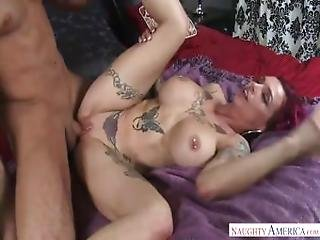 Mom With Red Hair Anna Bell Peaks Showed Son Tattoo Pubic