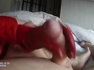 babe, cumshot, kukk, fetish, hansker, håndjobb, lær, onanering, leker