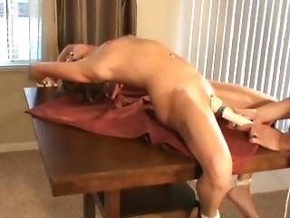 Tied And Gagged Brunette Has Intense Shaking Orgasm(s)