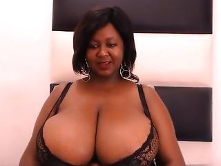 Huge Naked Ebony Black Tits!!
