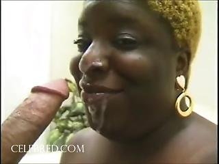 Kantiloupes Extra Big Ebony Centerfold Eats Penis Blowjob Facial Cumshot Handjobs