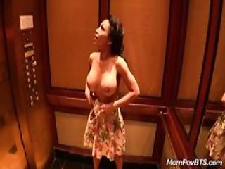 Big Tit Asian Milf Fucks Behind The Scenes