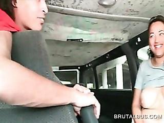 Boob Flashing Teen Giving Boner In The Sex Bus