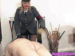 Mature Prodomme Flogs Her Pathetic Subs Asses