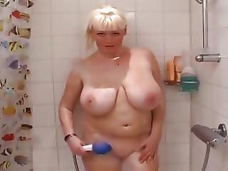 Busty Blonde Shower
