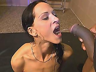 Brunette Gets Her Mouth Filled With Piss