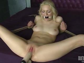 Split Legs Alli Rae - Bdsm - Hogtied, Spread And Stuffed - Dungeoncorp