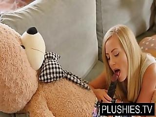 Blonde Model Sicilia And Kira Queen Sex With Teddy Bear Part 1