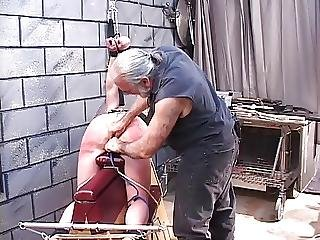 Young Thick Spanking Victim Has Her Pussy Tortured By Dungeon Master