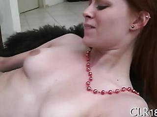 Babe Gets Jizz In Mouth