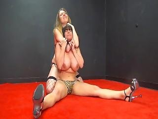 Topless Thick Milf Brunette Catfight - Rebecca Vs Samantha