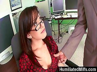 Humiliatedmilfs - Jennifer White Bent Over The Office Chair And Boned