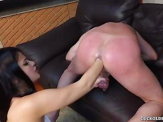 Super Spanking And Analfist Man By Girl!