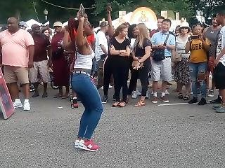 Teen Braless Dancing In Public  Bouncing Small Tits