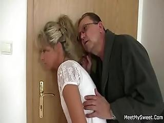 Parents Trick Their Son S Gf Into 3some Sex