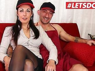 Letsdoeit - Hot Italian Milf Rides A Big Cock At Casting