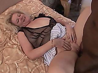 Blonde Mature Bitch Enjoys Getting Fucked By Bbc
