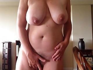 Standing Masturbation After Work