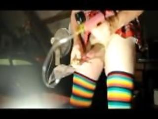 transvestite schoolgirl pumping sounding urethral gaping dildo 83
