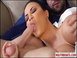 Big Tits Milf Ball Licking And Cum On Tits