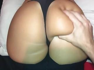 Big Booty Blonde College Slut Gets Ass Smacked With Lotion