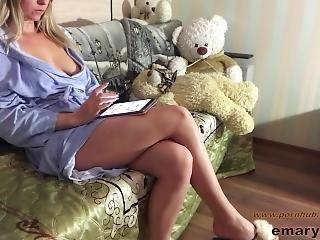 amateur, ano, babe, ano grande, teta grande, sofá, sexando, masturbación, orgasmo, realidad, solo
