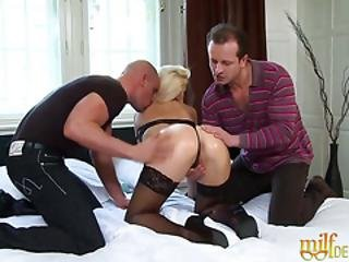 Blonde Milf With Big Tits Enjoys Hardcore Dp