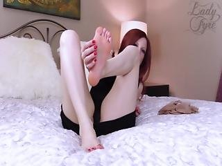Feet, Femdom, Fetish, Foot, Heels, Legs, Masturbation, Nylon, Panties, Pantyhose, Stocking, Toes
