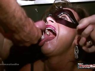 Hot Pornstar Bukkake With Creampie