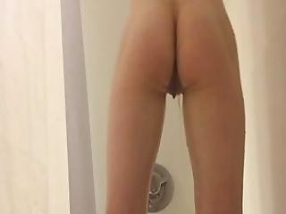 Voyeur Watches Blonde Babe Shower And Shave