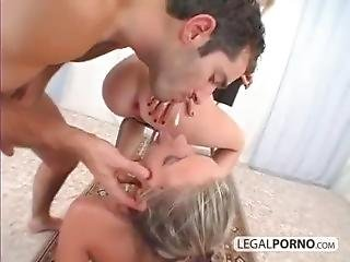 Two Blondes, Ass To Pussy, Anal Creampie, Cumfart Swallow
