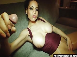 Big Breasted Yuri Zan Has Her Tits Covered In Cum