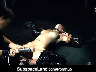 Bdsm, Bondage, Bound, Collar, Cumshot, Domination, Fantasy, Freckled, Kinky, Leashed, Redhead, Slave, Submissive, Tied, Whip