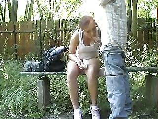 Horny Bench Fuck In The Park Amateurs In Public Places