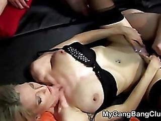 Cumhozed In Gang Bang Session