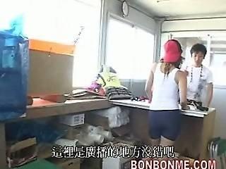 Lucky Guy Has Threesome Fuck With Beach Lifeguard