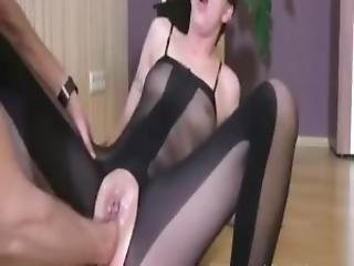 Fisting Her Loose Teen Snatch Till She Squirts Hard