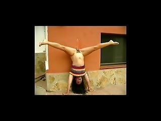Indian College Girl Pissing Upside Down