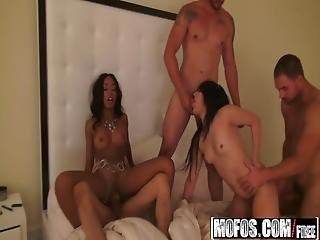 Mofos - Real Slut Party - Gina Marie  Tila Flame - Limo Party