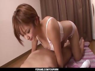 Meguru Kosaka Leans On Cock To Suck It Big Time