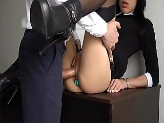 Anal Creampie For Sexy Slut Secretary Boss Fucked Her Tight Pussy And Ass