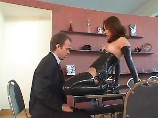 Hot Latina In Black Latex Gloves Get Fucked By Boss