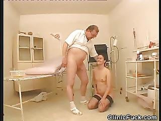 Clinic Patient Gets A Mouthful Of Cum